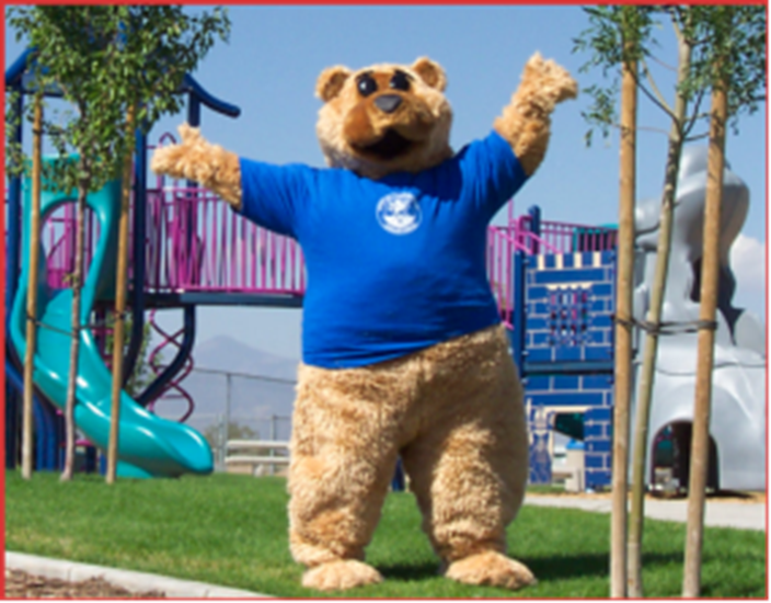 Photo of the Recreation Mascot Bubba the Bear