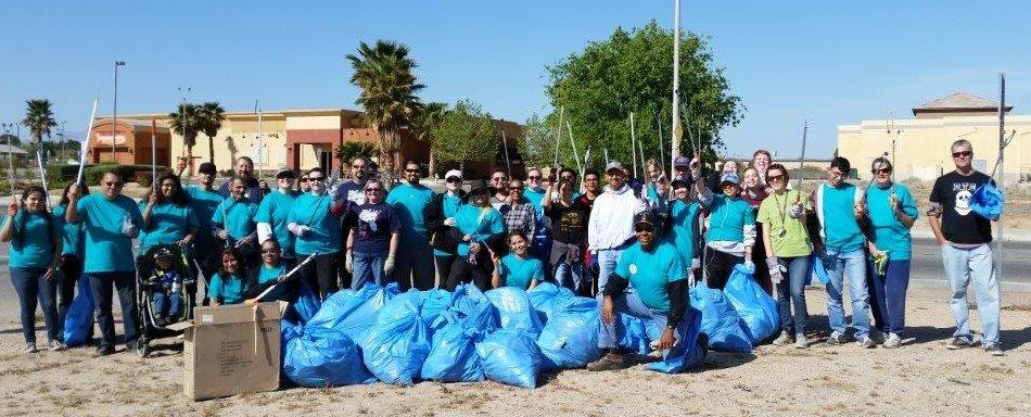 City team during Community Clean Up Day