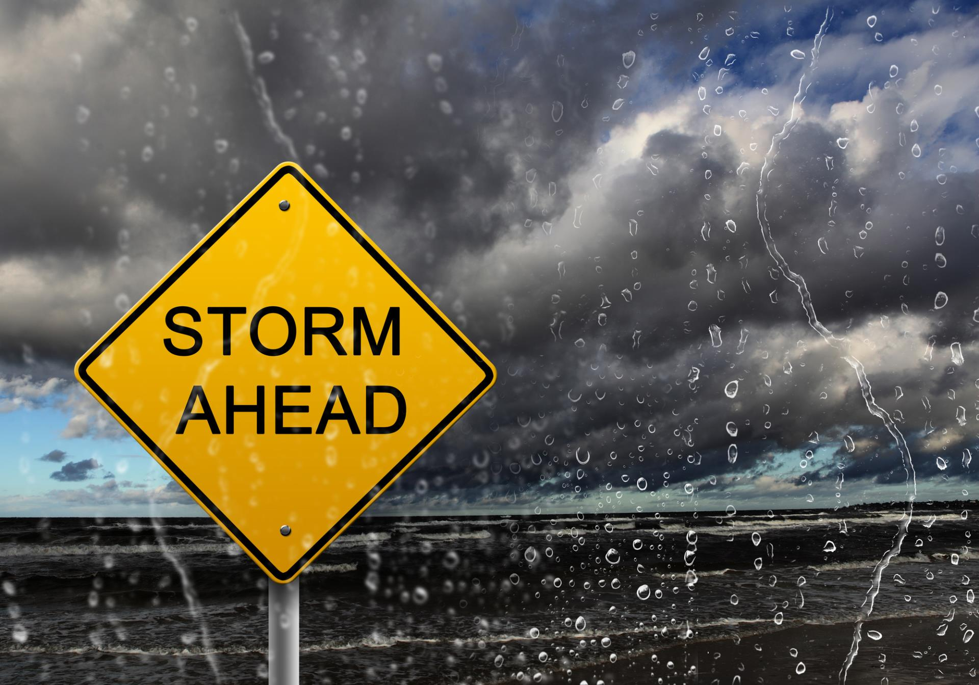 Storm Ahead Sign