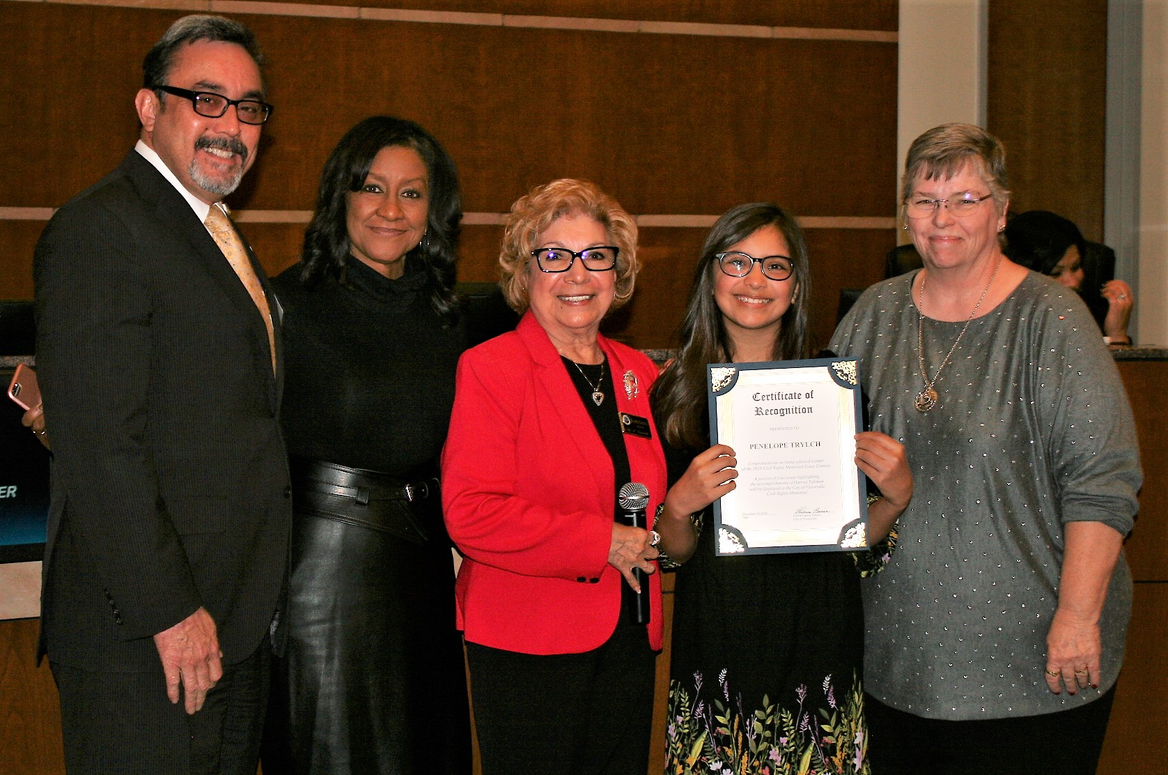 2018 Civil Rights Essay Winner - City Council Meeting Photo - 12-8-2018