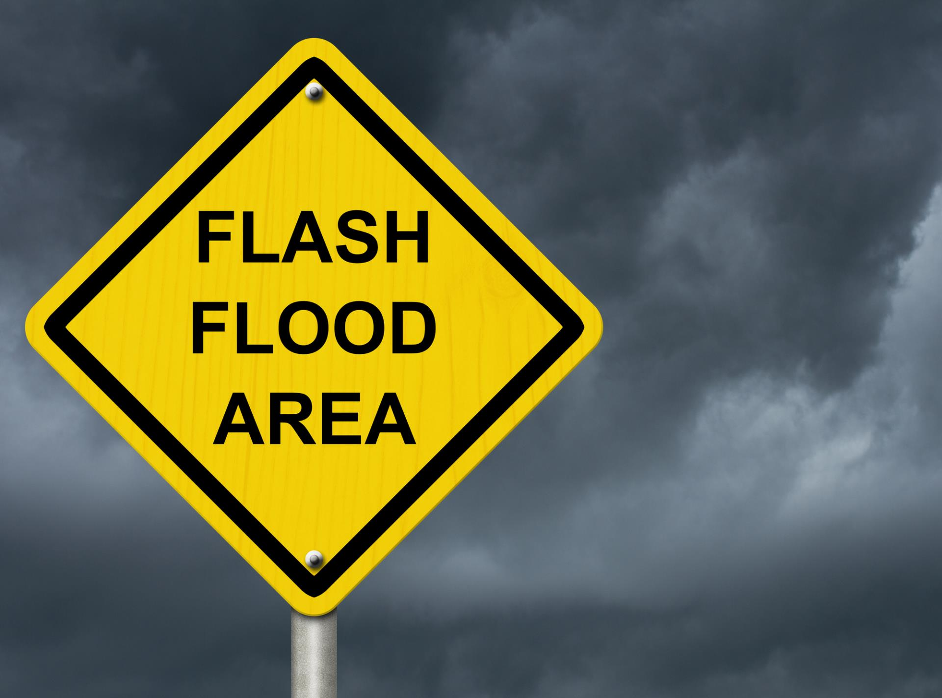 Flash Flood Area Sign