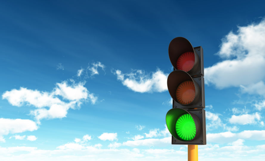 Traffic Signal at Bear Valley Road & Balsam Road on Four-Way Flash: Aug. 3