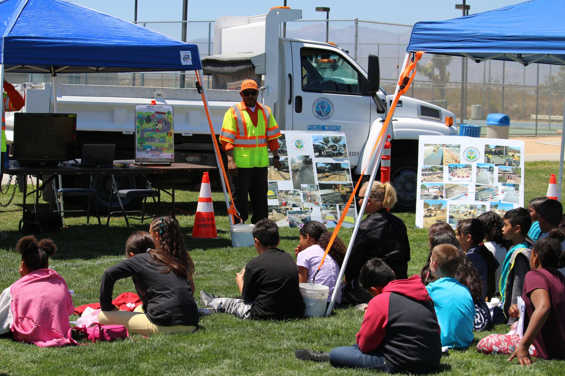 Public Works Day - Students Learning