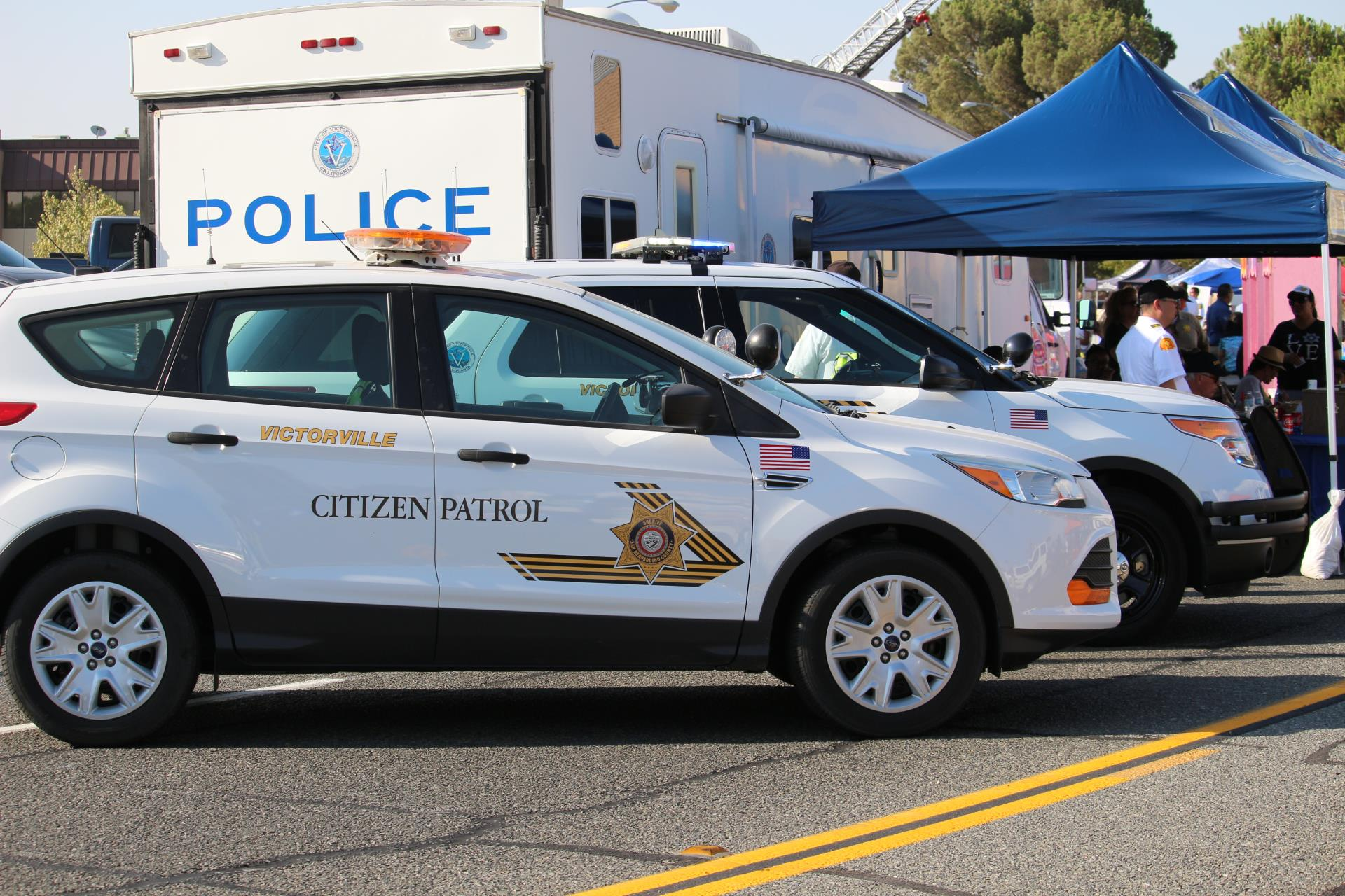 Citizen on Patrol Vehicles at National Night Out Event