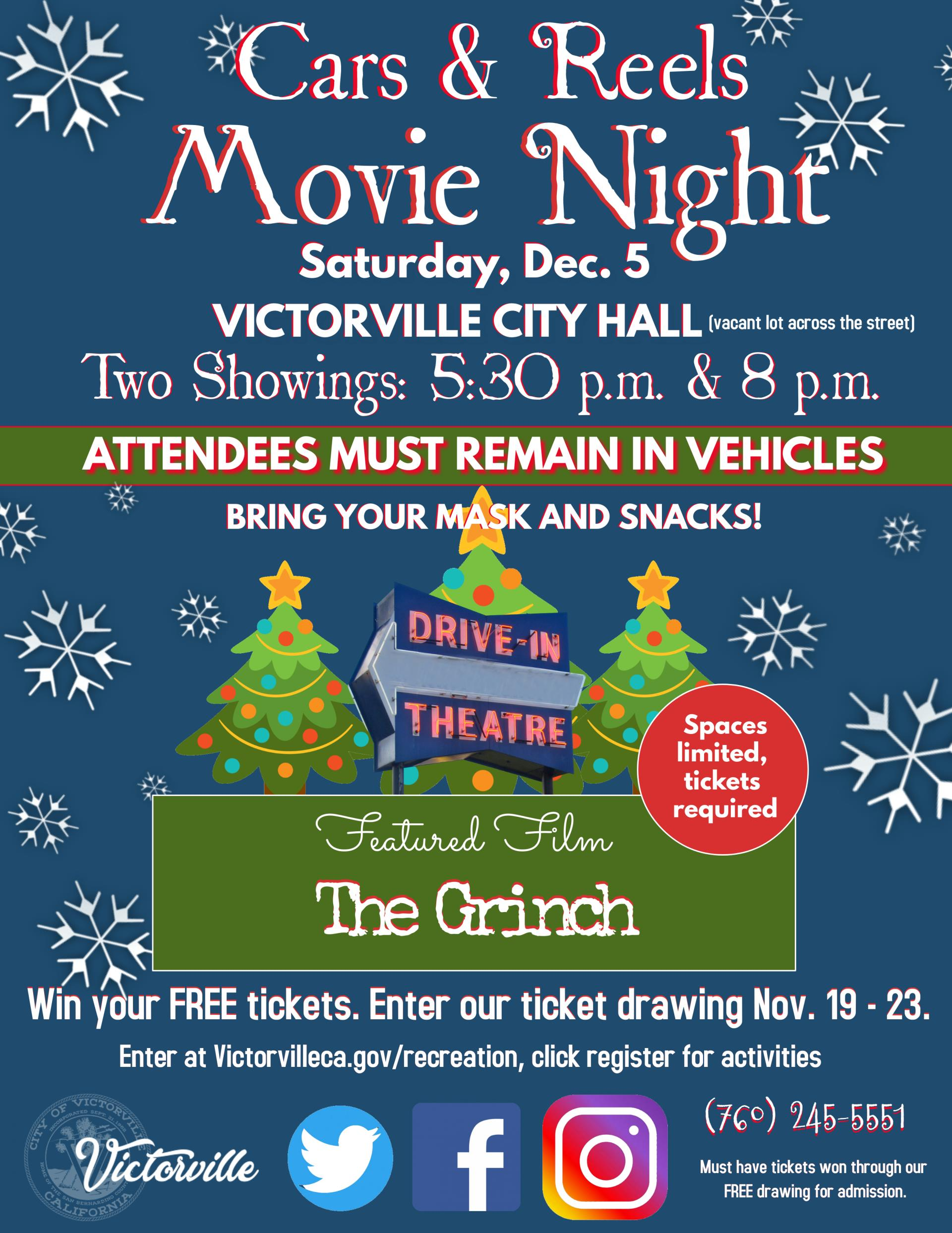 Cars and Reels Movie Night Flyer_November 2020