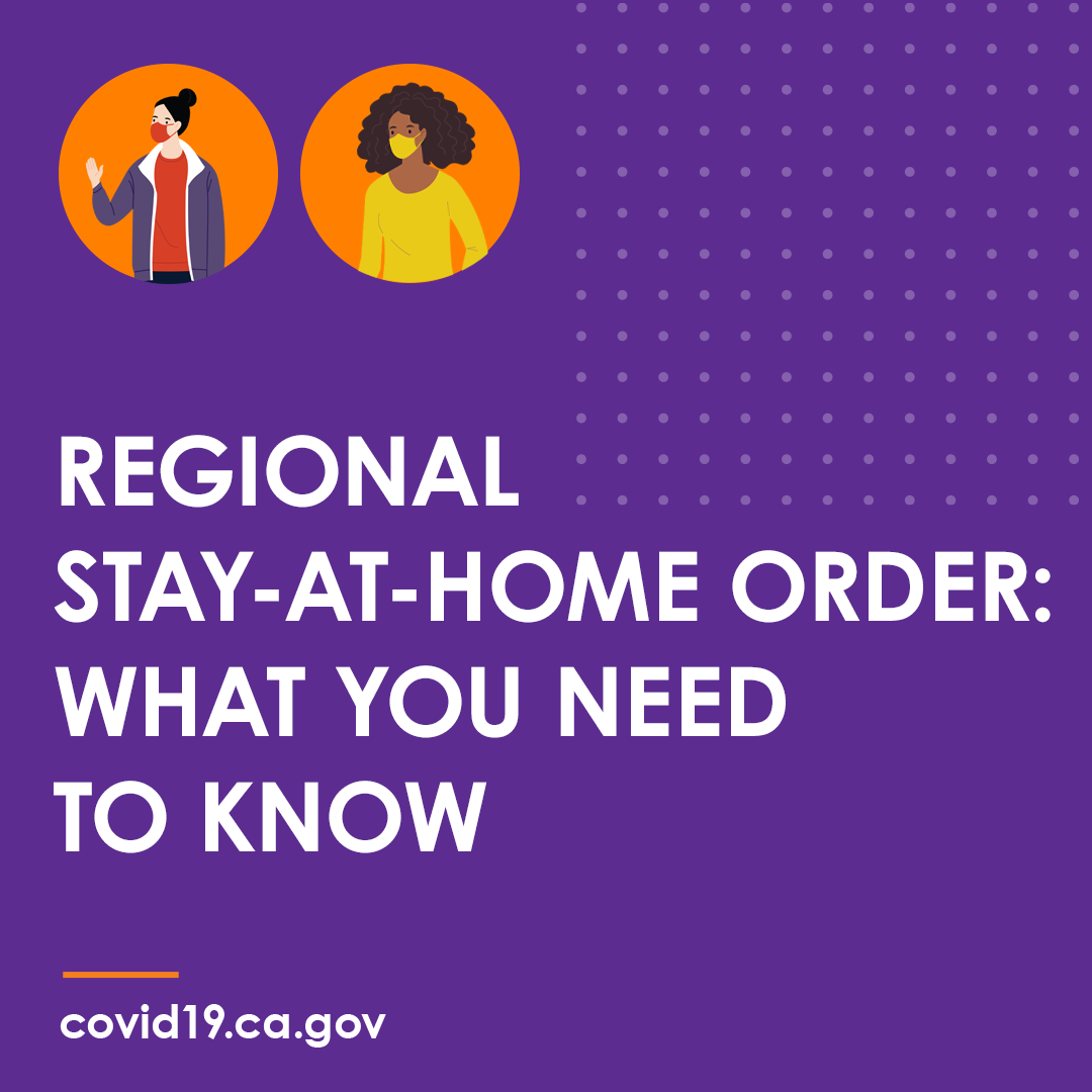 State of California Regional Stay At Home Order